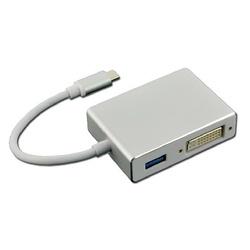CONVERTISSEUR USB C /HDMI / DVI-I / VGA AVEC USB 3