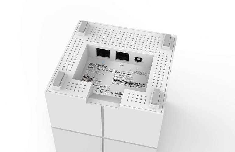 SYSTEME WIFI MESH DE DOMICILE Pour 550 m² max BI-BANDES AVEC 3 BLOCS nova1